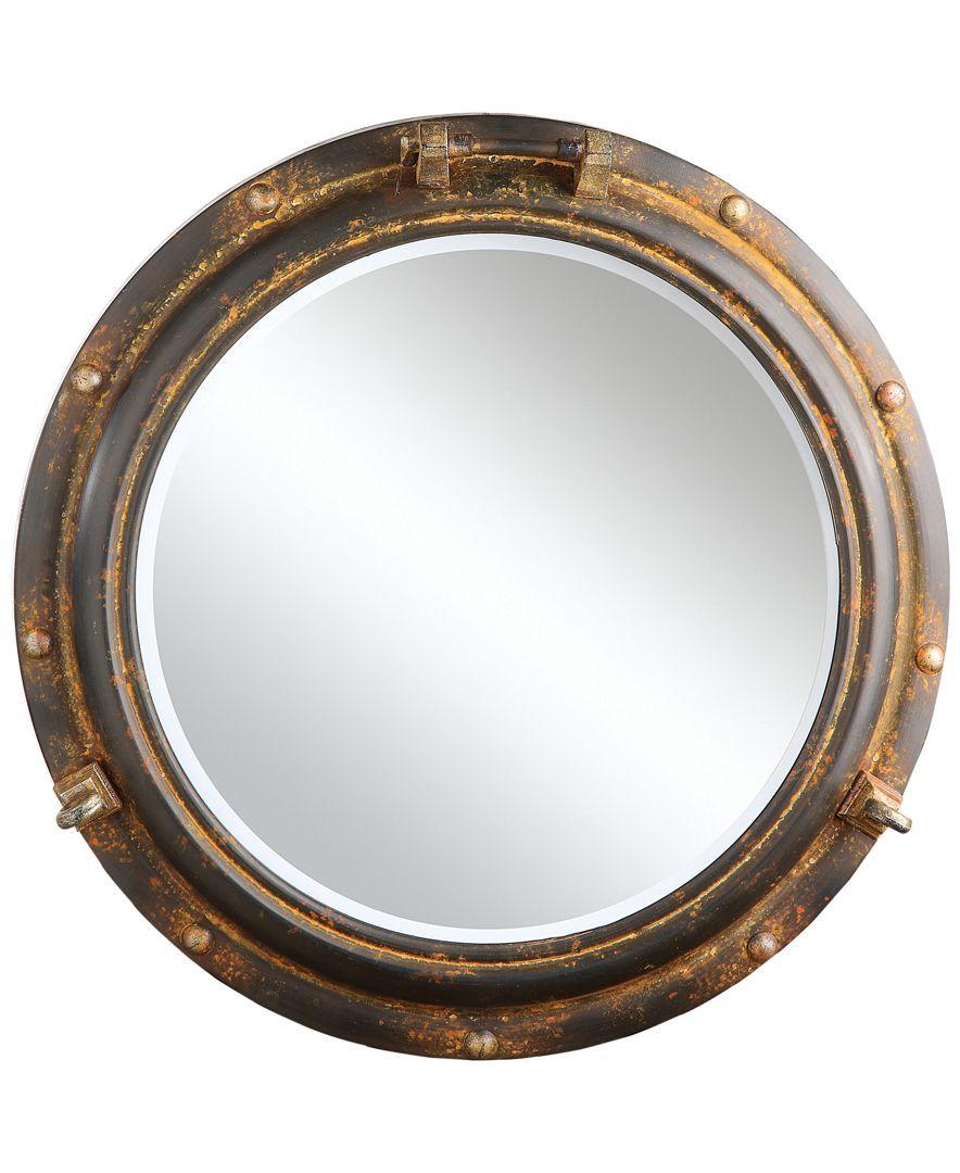 Round Metal Porthole Mirror Wandspiegel Spiegel Schmucken Und Gerahmte Wand