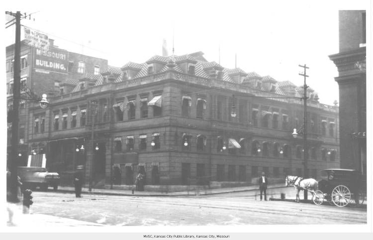 Identified In Booklet As The Kansas City Star Building Located A 11th And Grand Probably Ca 1900 1910 Missouri Valley Kansas City Kansas City Missouri