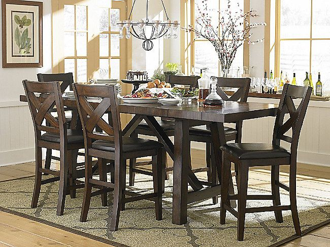 Colonial Gathering Table And 4 Counterstools Http://www.homfurniture.com/