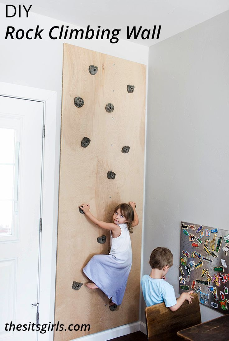 DIY Rock Climbing Wall this is