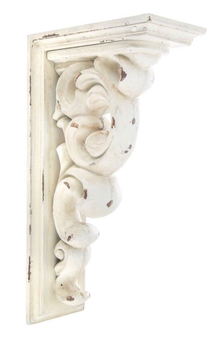 Add A Special Touch To Your Walls With Special Accents Use Large Antique White Scroll Wood Corbel To Add The Perfect De Tuscan Decorating Wood Corbels Corbels