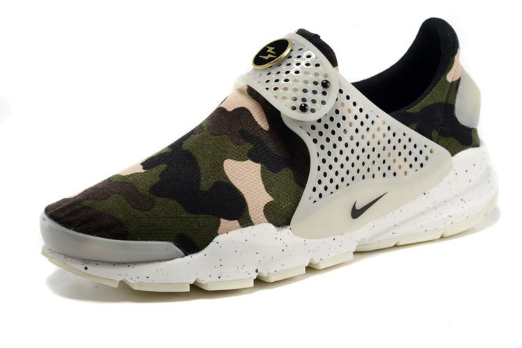 save off afc9e 220ca Girl WMNS Nike Sock Dart lightning Print Army Force Green White