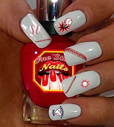 Baseball Mom For You Set Of 87 Clear Waterslide Nail Decals With