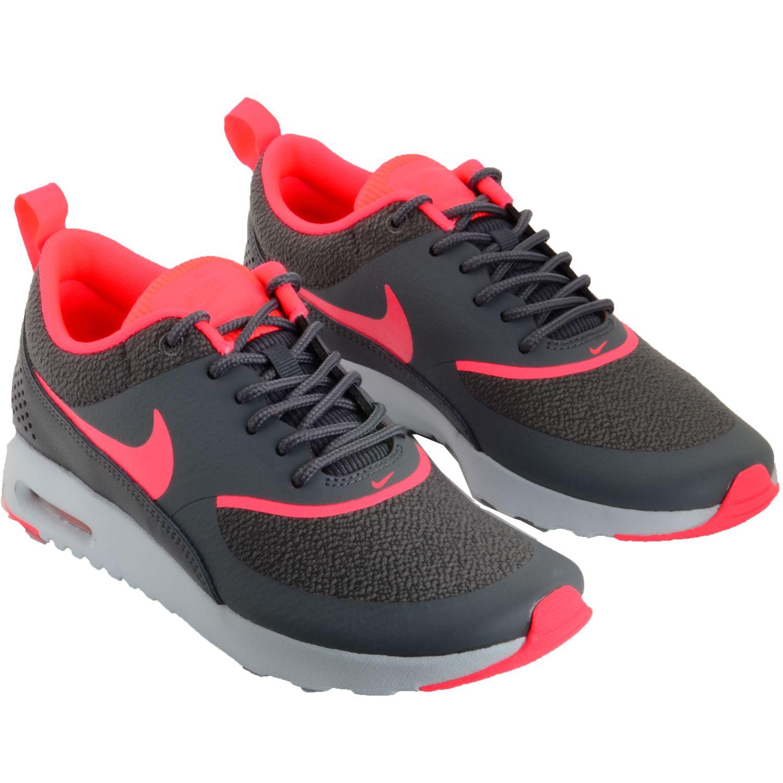 nike air max thea wmns sneaker grau-pink