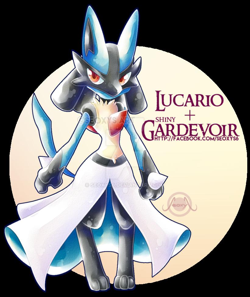 6acaeb2b Lucario X Shiny Gardevoir by Seoxys6.deviantart.com on @DeviantArt ...