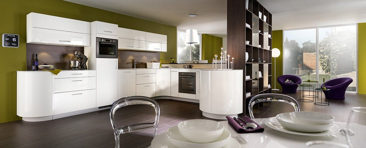 cuisine quip e mobalpa gaia et galbe blanc brillant cuisines pinterest. Black Bedroom Furniture Sets. Home Design Ideas