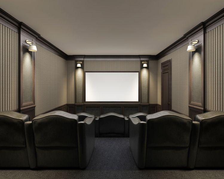 am nager une salle de cin ma chez soi salle de cin ma cin ma et salle. Black Bedroom Furniture Sets. Home Design Ideas