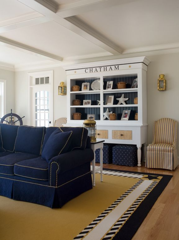 Interior Design Nautique Coastal Living Rooms Home Nautical Living Room