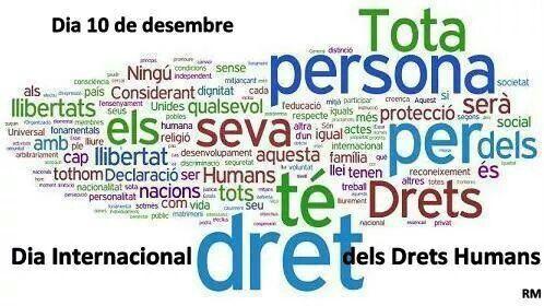 10 de DESEMBRE - DIA INTERNACIONAL DELS DRETS HUMANS