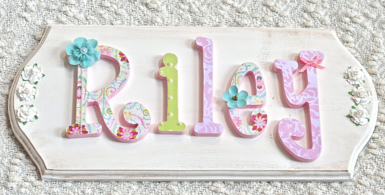 Custom Name Sign Plaque Wooden Letters For Nursery Baby Name Girl Nursery Decor Ki Wooden Letters For Nursery Personalized Baby Shower Gifts Wooden Letters
