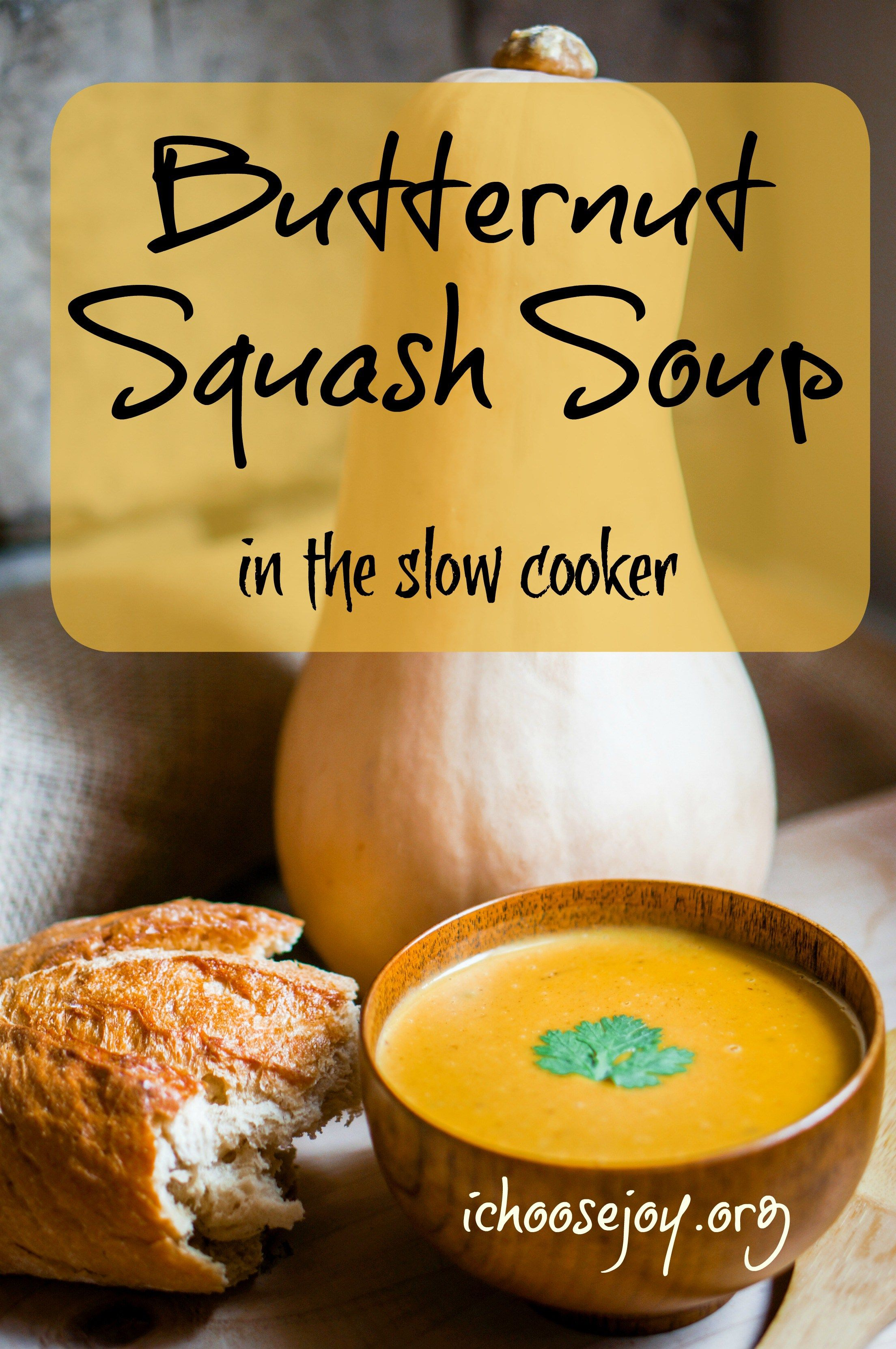 Butternut Squash Soup in slow cooker