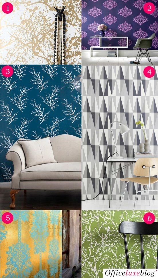 DIY: Wallpaper Wall Art | Office Luxe