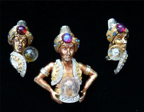Fortune Teller Earrings - Fortune Teller Jewelry - Vintage