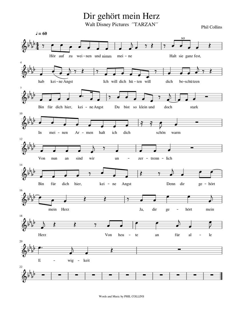 Download and print in PDF or MIDI free sheet music for Dir gehört ...