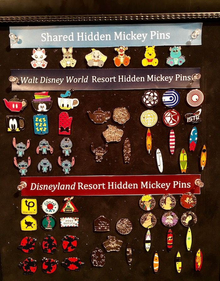 4e4c25263f4a Preview of the Disney Hidden Mickey Pins 2018 at Disneyland and Walt Disney  World! These were previewed at the Love is an Adventure Event.