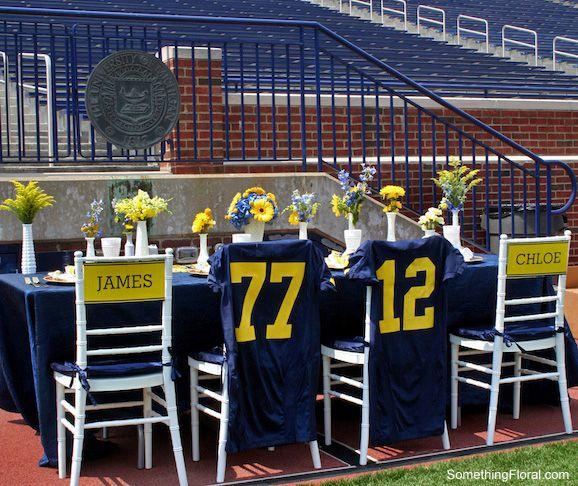 Soccer Wedding Ideas: Floral Design And Milk Glass Vase Rental By Something
