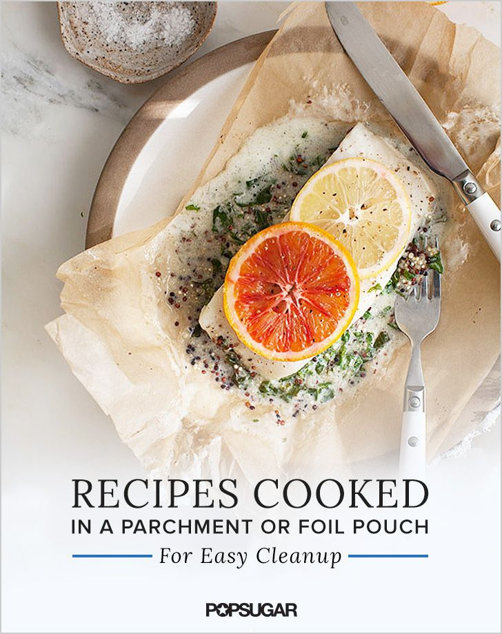 For delicious recipes and no-hassle cleanup, try cooking in a parchment or foil pouch. This method, generously shared with us by the French, is a brilliant way to maintain the flavor of your dish while eliminating scrubbing duty.