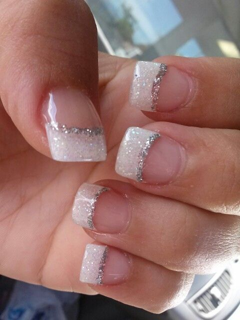 Simple And Elegant Bride Nails Gel Nails French French Nail Designs