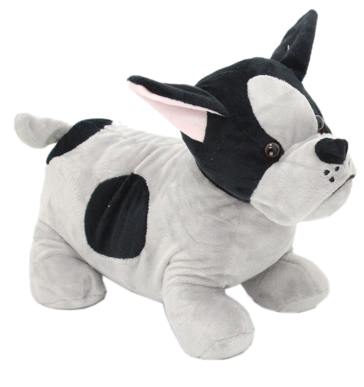 French Bulldog Black Patch Dog Doorstop Grey Frenchie Puppy Door