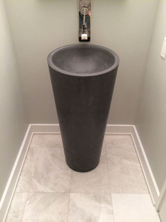 concrete pedestal sink by stevenEylerArtisans on Etsy