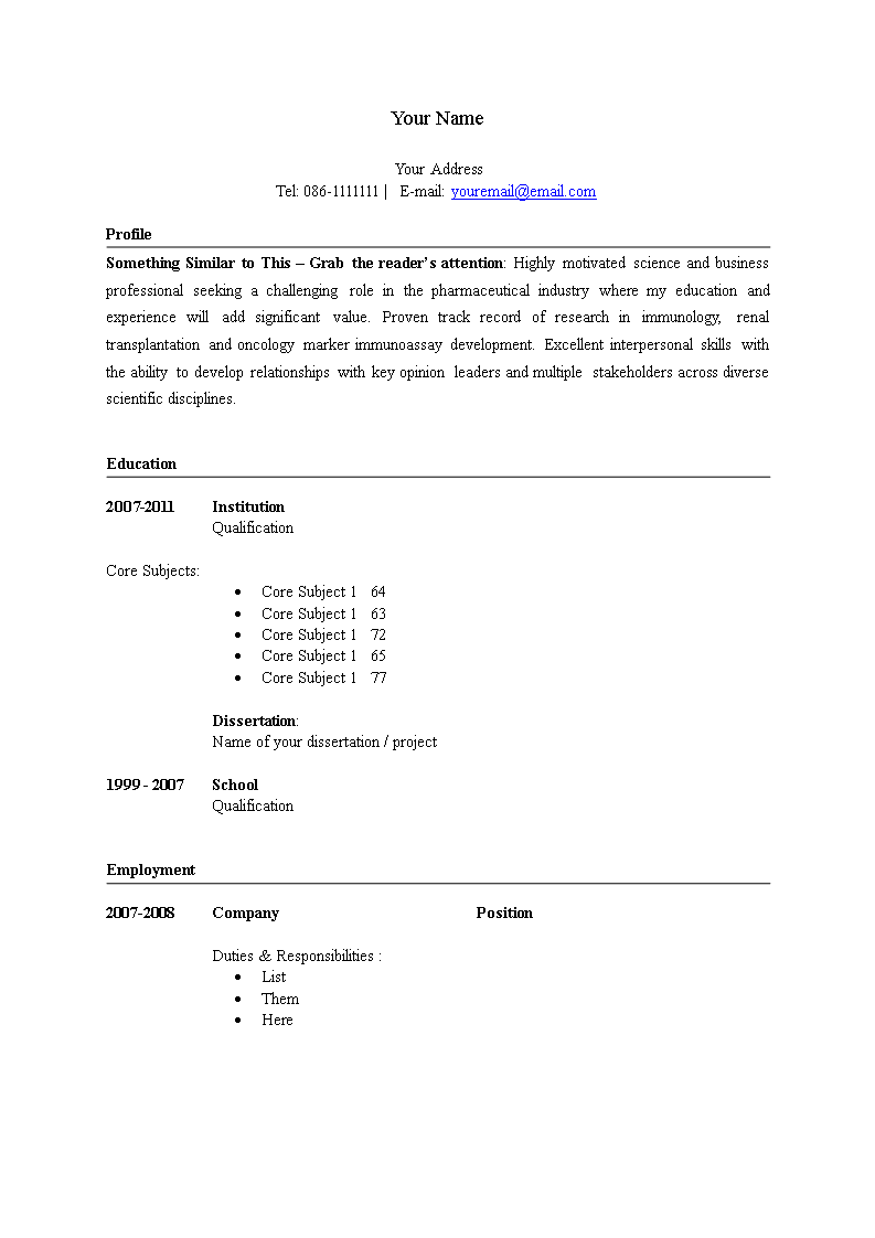 Life Sciences Healthcare Resume - Download this Life Sciences Healthcare Resume template and after downloading you can craft and customize every detail of its appearance very quickly.