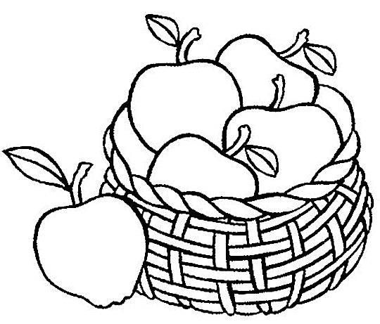 apple-fruit-coloring-page-1779515.jpg | embroidery | Pinterest