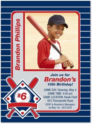 Baseball Card Invitation How Cute