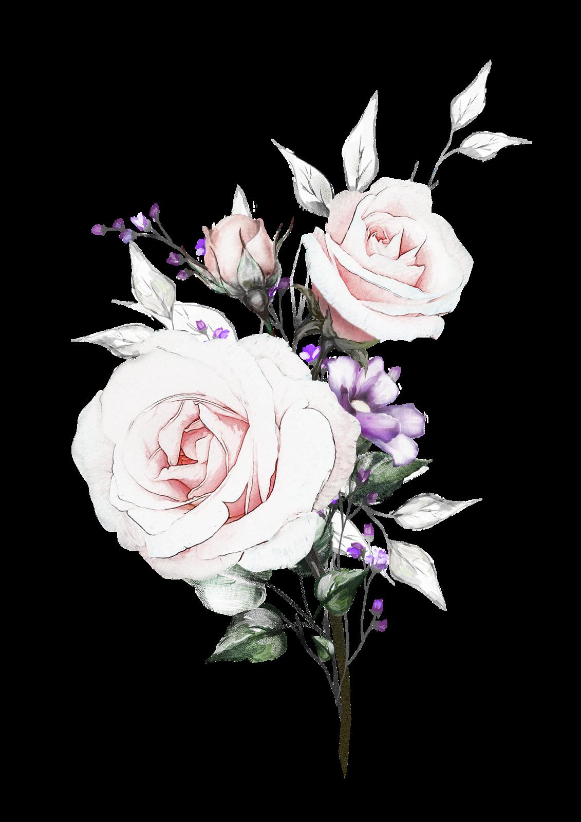 Открытки, букет цветы для фотошопа приглашения