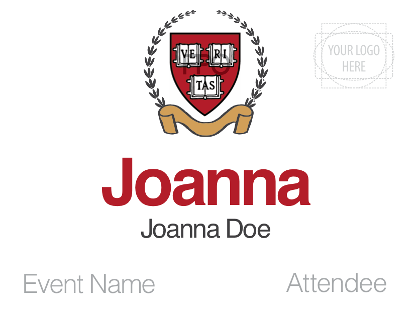 This Classy Name Badge Design Features An Academic Crest For