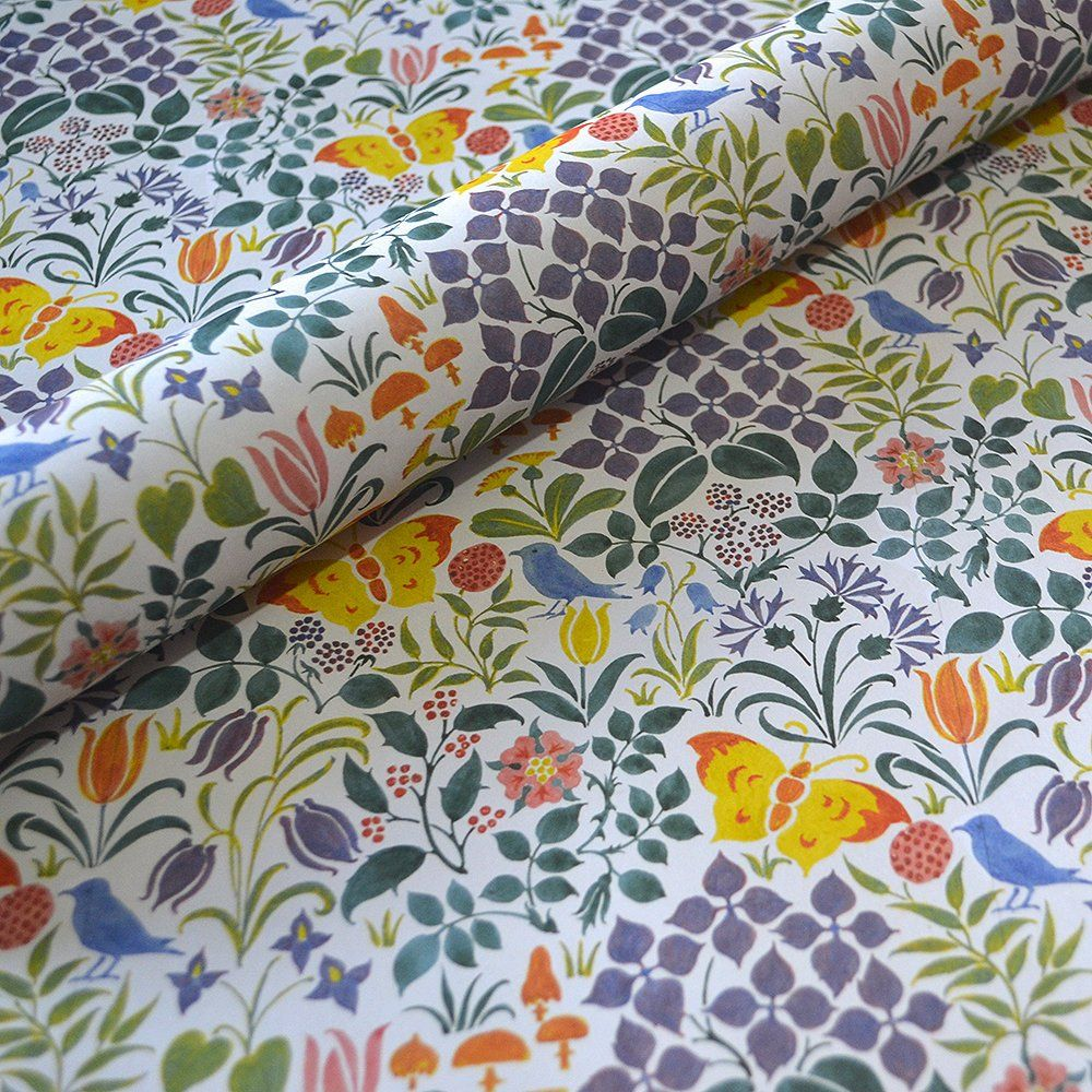 Decorative Floral Wrapping And Craft Paper