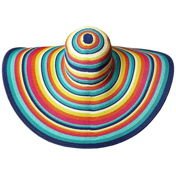 6499740cf24 San Diego Hat Company UBX2721 Striped Floppy 8 Inch Brim Sun Hat... (