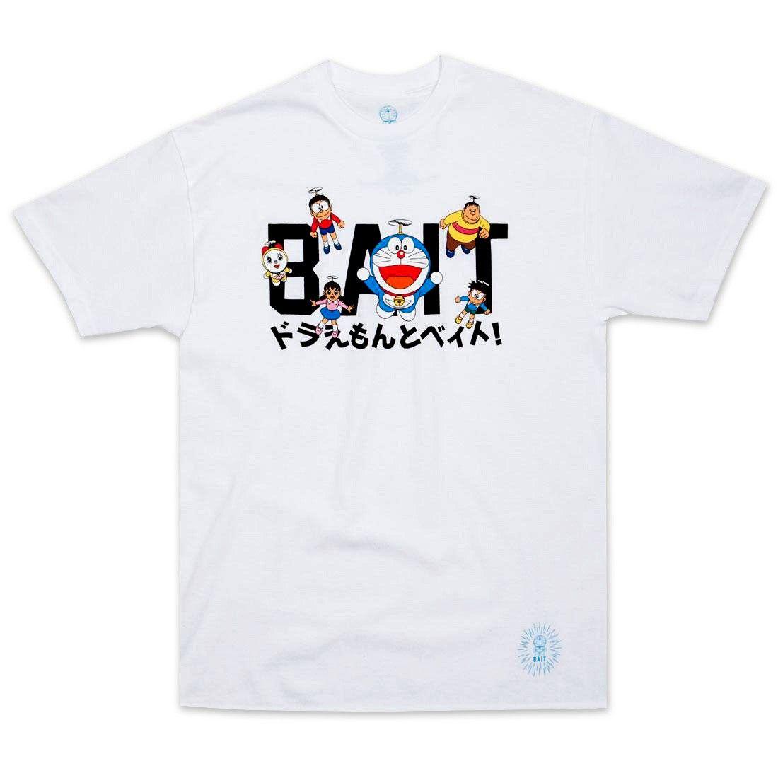 bait x doraemon men logo tee white men logo doraemon logo tees