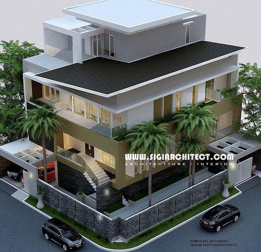 Desain Rumah Mewah Hook 3 4 Lantai Modern Minimalis Home Plans Di