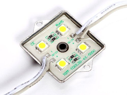 Led Schlafzimmerlampe ~ 10 stück 1m led lichterkette led modul leiste 24v gelb mit 4 x
