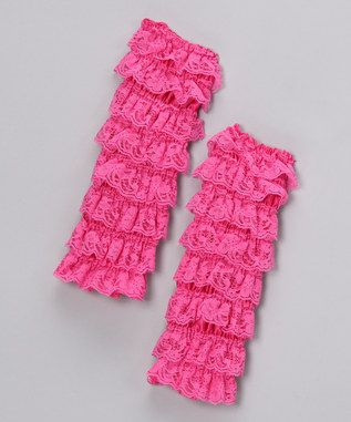 Hot Pink Lace Leg Warmers