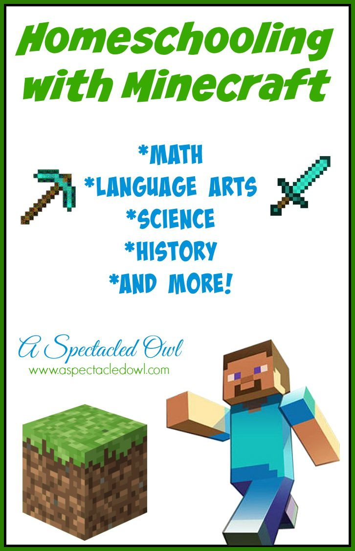 Homeschooling With Minecraft A Spectacled Owl Homeschool Math Homeschool Activities Homeschool [ 1126 x 726 Pixel ]