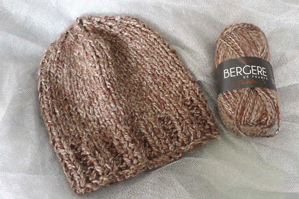 Tuto   tricoter un bonnet (aiguilles n°10)   ADULTES HOMMES CHAPEAUX ... 378f6e21958