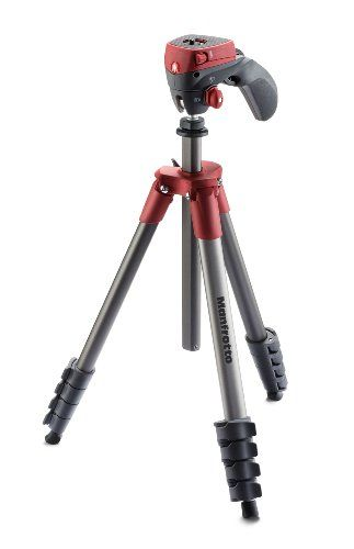Manfrotto MKCOMPACTACN-RD Compact Action Tripod mit Quick Release (Tragbarkeit: 1,5Kg) rot - http://kameras-kaufen.de/manfrotto/manfrotto-mkcompactacn-rd-compact-action-tripod