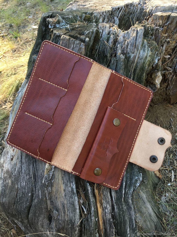 a5c798010ca4 Кошельки и визитницы ручной работы. Лонгер, кошелёк из натуральной кожи ручная  работа. Heavy