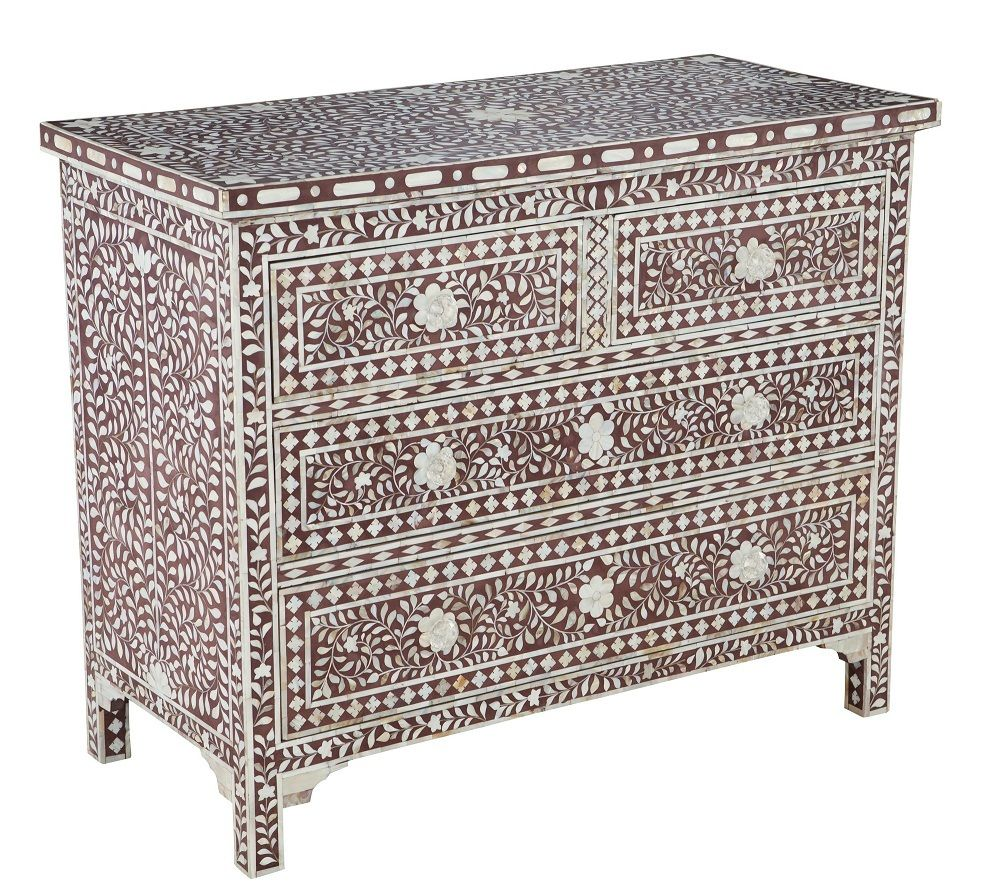 Instyle Decor Com Beverly Hills Beautiful Mother Of Pearl: Beautiful Artisan Mother Of Pearl Inlay Chocolate Chest Of