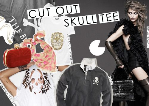 skull cut out tee - intro