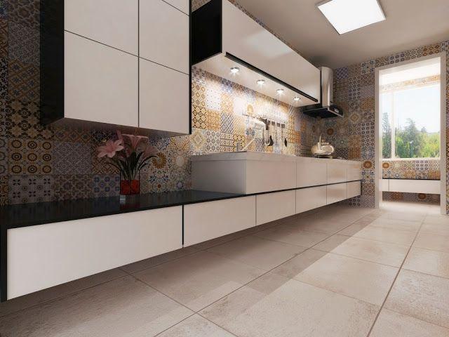 Materiales para la pared de la cocina interceramic ideas deco cocinas paredes de cocina y - Materiales para estucar paredes ...