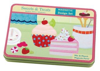 magnetische sweets & treats decoratie Mudpuppy | kinderen-shop Kleine Zebra