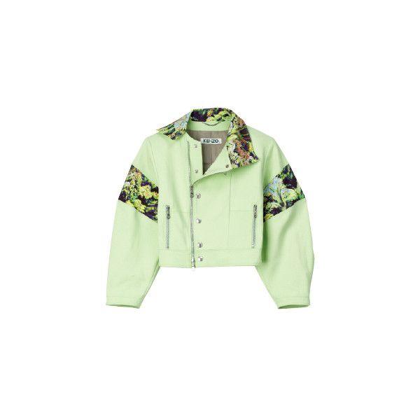ライダースジャケット ❤ liked on Polyvore featuring outerwear, coats, jackets, coats & jackets and green coat