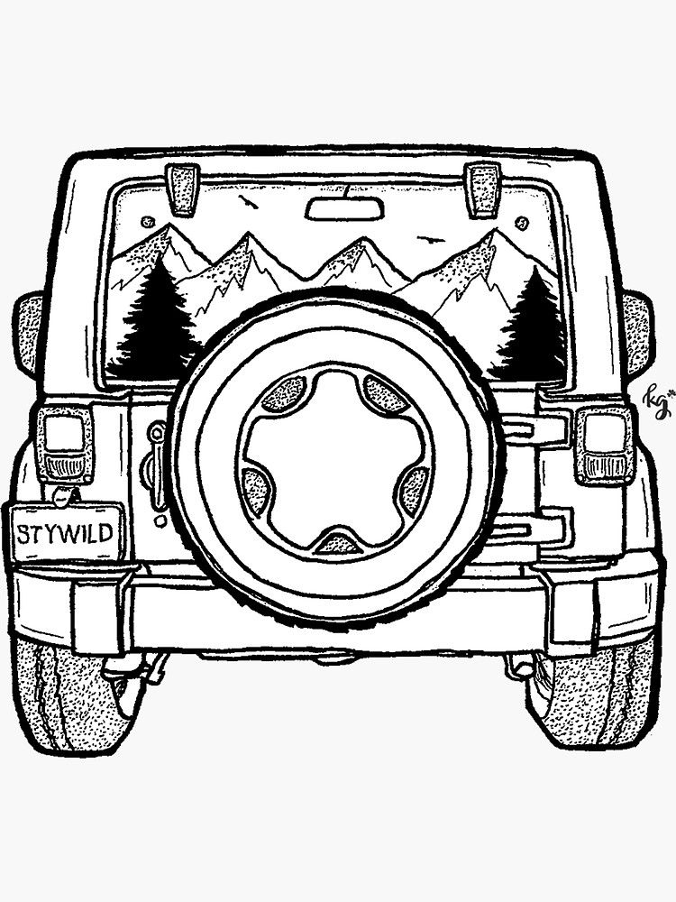 Easy Jeep Drawing : drawing, Drawing, Ideas