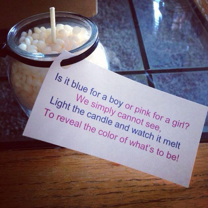 Gender Reveal Candle Boy Or Girl Unique One Of A Kind Gift Ask