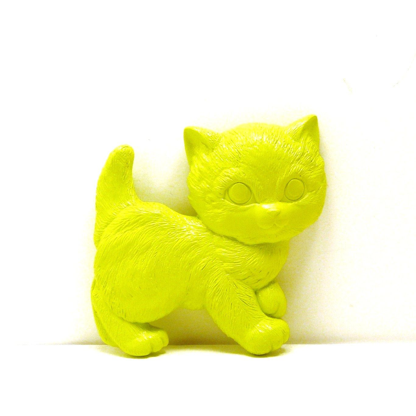 Cat wall hanging // neon lime green home decor // upcycled cats ...