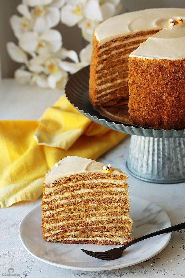 The Most Amazing Russian Honey Cake | Cleobuttera #honeycake