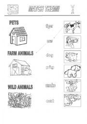 english worksheet pet farm wild animals ps1 teaching pinterest wild animals. Black Bedroom Furniture Sets. Home Design Ideas