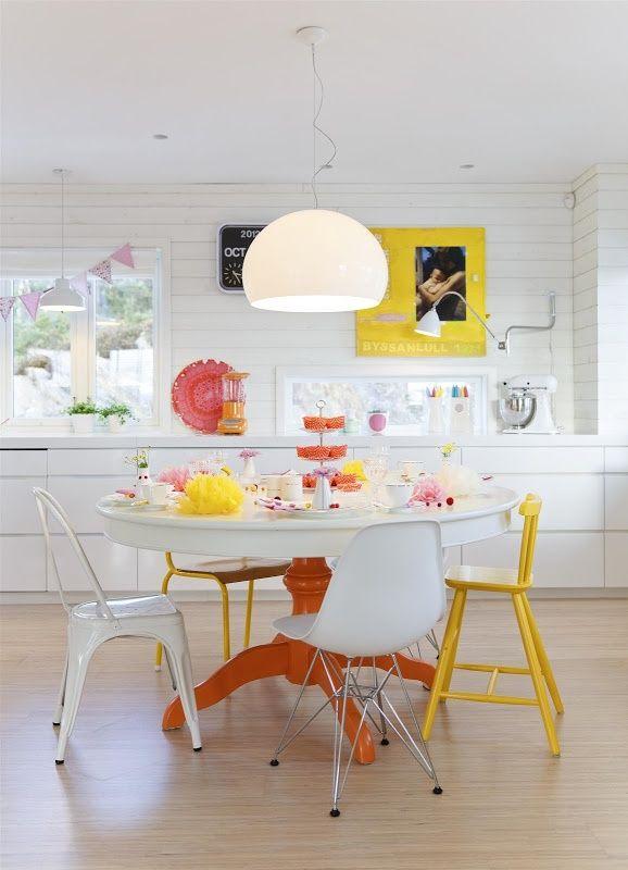 Mesa vintage pintada macetas pintadas Pinterest - moderne wandgestaltung fur wohnzimmer